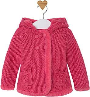 Mayoral Beautiful Rosy Pink Long Hooded Cardigan/Knitted Coat