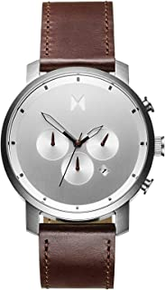 Chrono Mens Watch | Leather Band, Analog Watch, Chronograph with Date