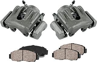 CCK11045 FRONT [2] Premium Grade Semi-Loaded OE Caliper Set + Ceramic Brake Pads + Sensors