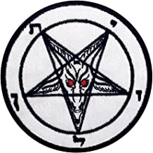 Pentagram Goats Head Baphomet Death Satanic Sex Patch Embroidered Applique Badge Iron On Sew On Emblem