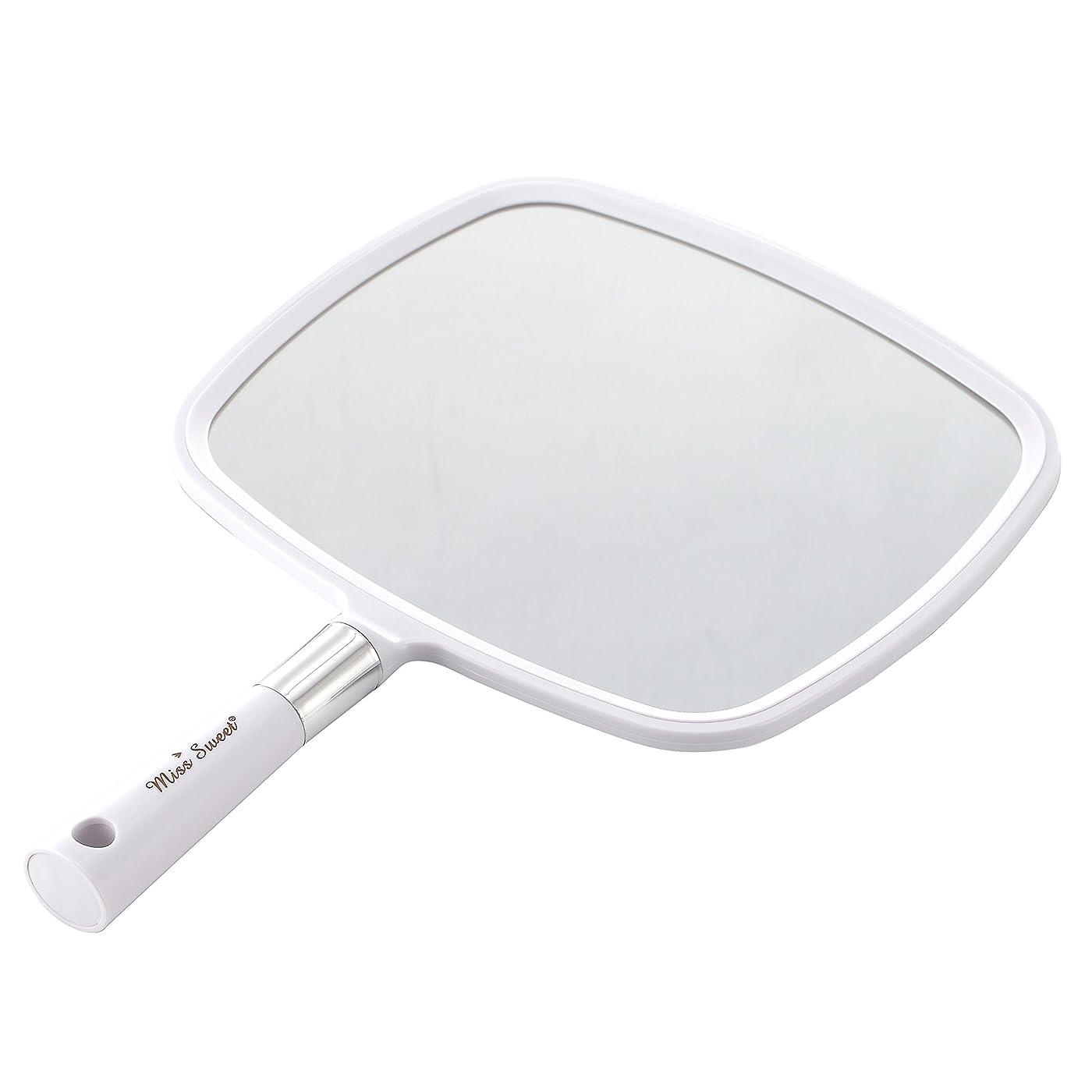 阻害する未使用くぼみMiss Sweet ハンドミラー 1倍大鏡 (白)