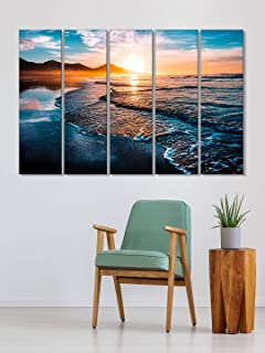 999Store frames for living room wall decoration wall frames for home decoration sunset behind the mountains wall art panel...