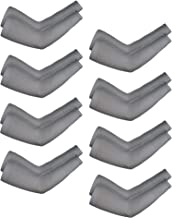 8 Pairs Unisex Arm Sleeves UV Sun Protection Cooling Sleeves for Driving Jogging Golfing Riding Outdoor Activities (Grey, Style 2)