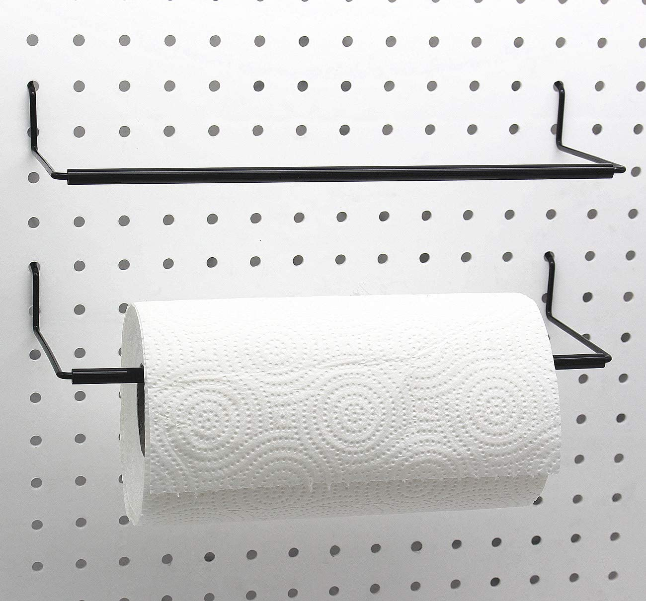 Paper Towel Holder for Pegboard, Extendable, Fit Any Standard Pe