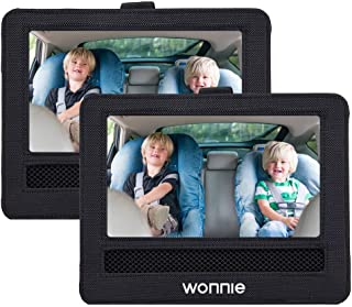 WONNIE Car Headrest Mount Holder Combo for 9.5'' Portable Dual DVD Player
