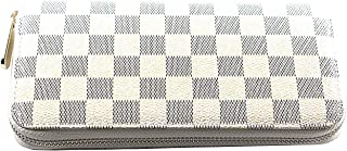 Women's Checkered Zip Around Wallet and Phone Clutch with Card Holder Organizer -PU Leather