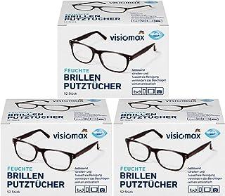 Brillen poetsdoeken - vocht- en vetoplossend voor een streepvrije reiniging - 156 stuks - verpakking van 3 (3 x 52 stuks)...