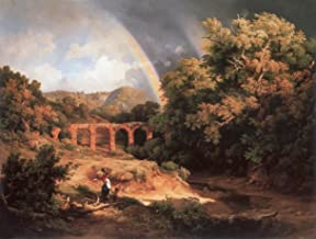 Italian Landscape with Viaduct and Rainbow by Karoly Marko The Elder - 20