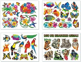 40 Nature Window Clings Butterflies Birds Flowers Fish Endangered Animals