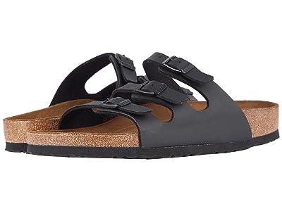 Birkenstock Florida Soft Footbed Birko-Flortm (Black Birko-Flortm 2) Women