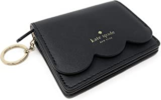 Kate Spade Piper Magnolia Street Leather Wallet Key Chain Ring Wallet Black