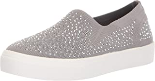 Women's Poppy-Studded Affair. Scattered Rhinestud Knit Slip On. Sneaker