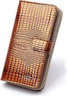 Women's Long Genuine Leather Clutch Wallet Phone Card Holder Organizer Ladies Purse