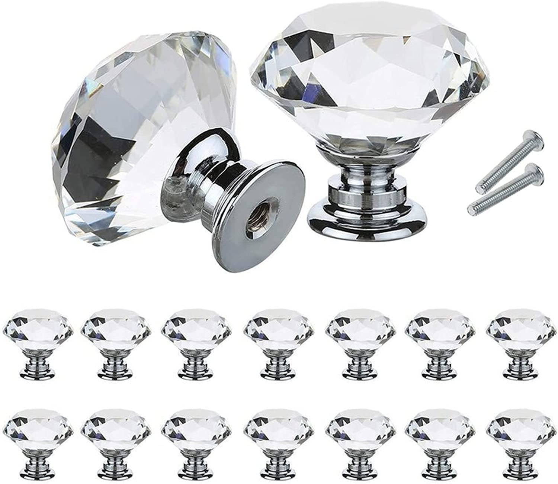 WDONGX Exquisite Door Brand Large special price !! new Handle 10Pcs Diamond 30mm Design Set Shape