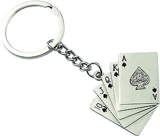 G/én/érique Porte-cl/és bijoux de sac quinte flush /à pique poker.