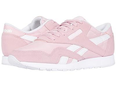 Reebok Lifestyle Classic Nylon (Classic Pink/White/White) Women