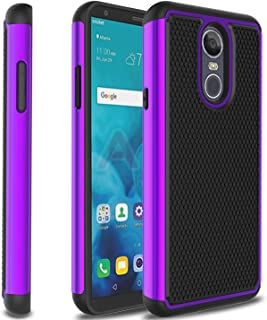 Zenic LG Stylo 4 Case, LG Stylo 4 Plus Case, Dual Layer Plastic Hybrid Defender Shockproof Protective Armor Case for LG Stylus 4/LG Q Stylo/LG Q Stylo Plus(Purple/Black)