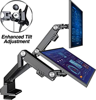 """AVLT Dual 13""""-35"""" Monitor Arm Desk Mount fits Two Flat/Curved Monitor Full Motion Height Swivel Tilt Rotation Adjustable Monitor Arm - VESA/C-Clamp/Grommet/Cable Management"""