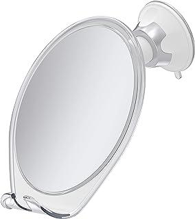 HoneyBull Fogless Shower Mirror for Shaving   Shatterproof with Suction, Swivel & Razor Hook