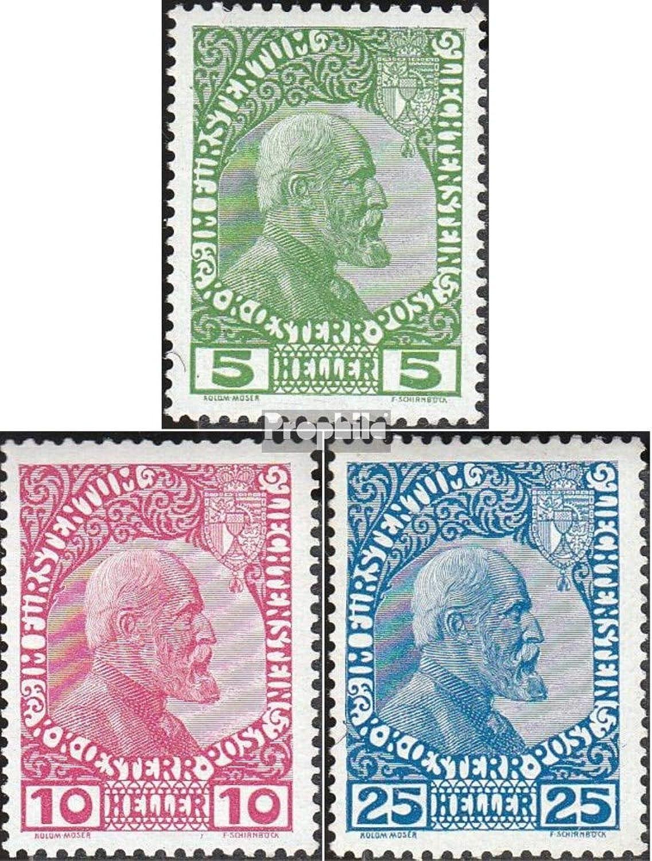 Garantía 100% de ajuste Prophila Collection Liechtenstein 1x-3x (Completa.edición.) 1912 Sello de de de Correos (Sellos para los coleccionistas)  barato y de moda