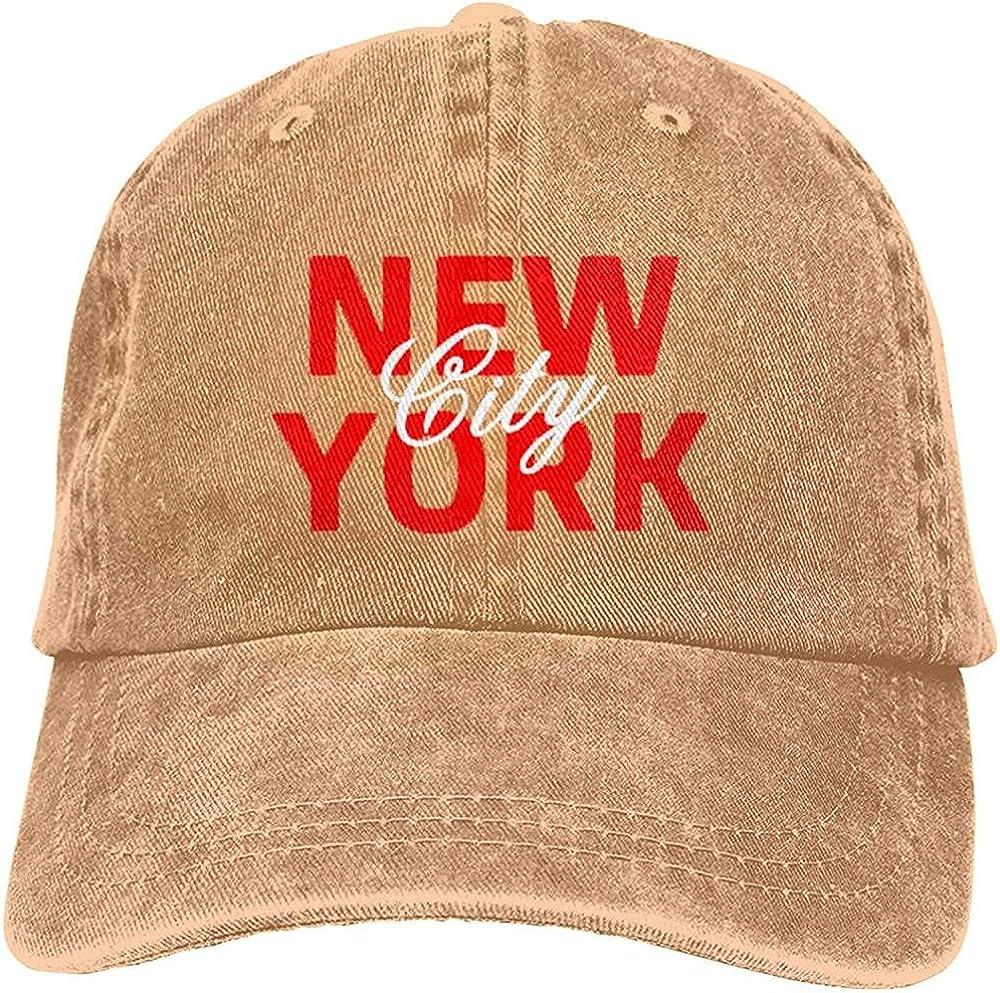 Fashion New York City Unisex Baseball Cap Adjustable Comfortable Cowboy Hat Black