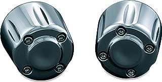 Kuryakyn 6238 Motorcycle Handlebar Accessory: Hand Grip End Cap Weight, Chrome, 1 Pair