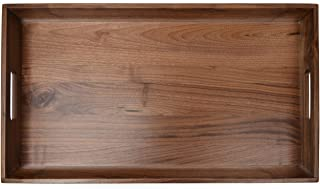 Best large wood tray with handles Reviews
