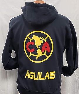 New Club Deportivo Aguilas del America Sudadera De Gorro Zip up Hoodie Size XL