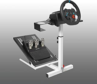 Marada Racing Wheel Stand Lite Adjustable for Logitech G25, G27, G29, G920 Single-arm Simulation Game Wheel Stand Wheel and Pedals Not Included