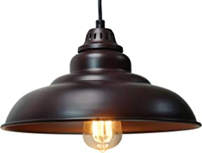 Barn Pendant Lights, FINXIN 1-Light Hanging Light for Kitchen Dining Table Oil-Rubbed..