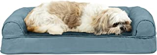 Furhaven Pet - Packable Travel Bed, Plush Orthopedic Sofa, L-Shaped Chaise Couch, & Mid-Century Modern Dog Bed Frame for D...