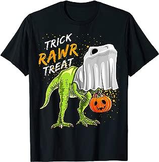 Trick Rawr Treat Halloween T Rex Dinosaur Ghost Gift Boys T-Shirt