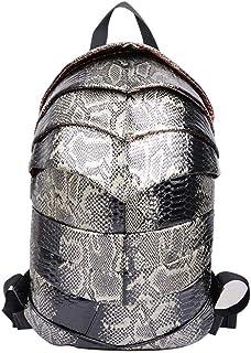 Beetle Men And Women Casual Backpack PU Waterproof Backpack 1,Silver