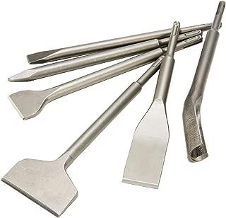 CO-Z SDS Plus Hammer Drill Chisel Set, Rotary Hammer SDS Bits Set 6pcs Including Tile Chisel, Gouge Chisel, Wide Chisel x 2, Flat Chisel, Point Chisel.