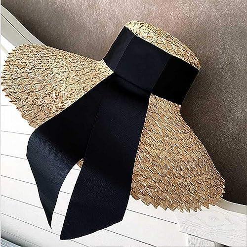 Chapeau de Soleil Décontracté à la Mode, Chapeau D'été Classique Pour Femmes, Chapeau D'été, Grand Chapeau de Soleil à Bord grand, élégant Et élégant, YTTY