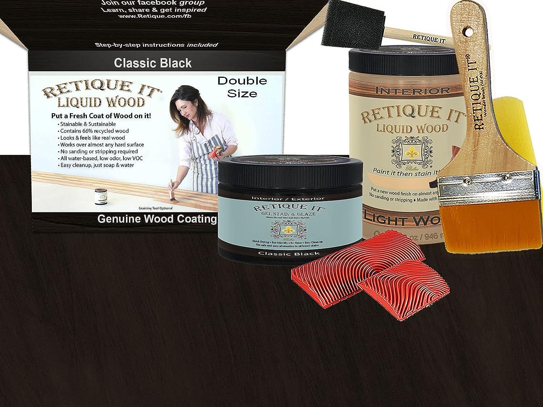 Retique It Graining Kit Lowest price challenge Gel Stain overseas Quart 32 Wood Liquid with oz