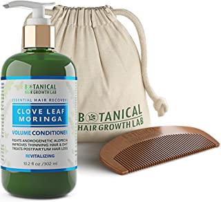 Botanical Hair Growth Lab Biotin Conditioner - Clove Leaf Moringa Formula - Anti Hair Loss Complex - DHT Blockers, Sulfate Free, Natural Ingredients for Men & Women