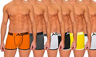 aqs Men's Threaded Boxer Briefs 6-Pack