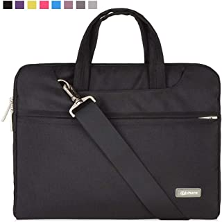 Qishare 15 15.6 16inch Black Multi-Functional Business Laptop Sleeve/Carrying Handbag..
