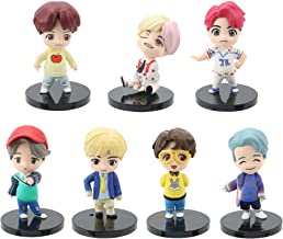 7Pcs All Members bts Cake Toppers Toy Set Decoration Children's Toys Action Fingure Toys Cake Toppers for Birthday Party Supplies