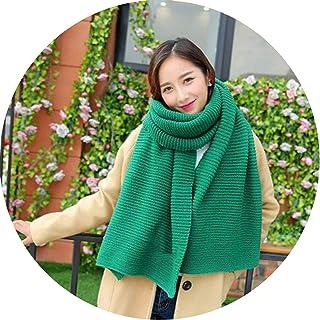 df89f018bfb3b Red Knitting Winter Scarf Korean Women's Scarf Shawl Thick Warm Wrap Scarves