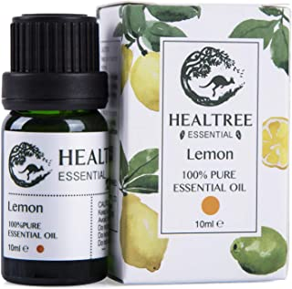 HEALTREE™ Lemon 100% Pure&Natural Eessential Oil(10ml single bottle) Australian owned and made highest purity Single ingredient Perfect for Aromatherapy, Aroma diffuser or Mixing Refreshing bath/shower oil GCMS Analysis Attached