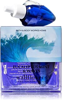 Bath & Body Works Wallflowers Home Fragrance Refill Bulbs 2 Pack Eucalyptus Mint & Waves