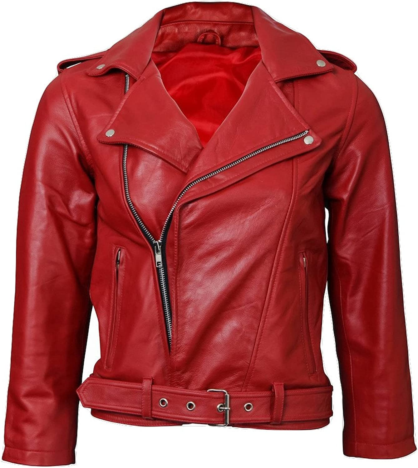 Fadcloset Womens Moto Leather Jacket