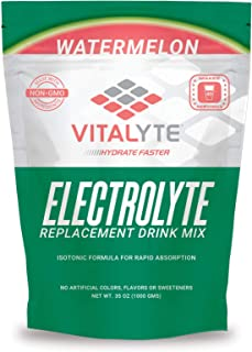 Vitalyte Natural Electrolyte Powder Drink Mix, Gluten Free, 40 2 Cup Servings Per Container (Watermelon)