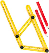 Angle Finder For Contractors, Handymen & DIY-ers | Multi-Angle Measuring Ruler | Maxform Easy Angle Ruler and Angleizer Template Tool | Right Angle Measurement Tool for Tile Setting & Stone Cutting