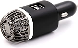 Car Air Purifier with 2X Ultra Fast USB Charging Ports. Removes Bad Smells, Cigarette Smoke, Pollution and Pollen