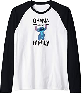 Lilo and Stitch Ohana Means Family Raglan Baseball Tee