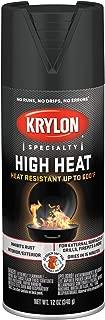 Krylon K01707077 High Heat Spray Paint, Aerosol, Flat Black