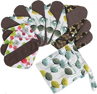 Compresas Reutilizable para Mujeres almohadillas de Menstrual (10 piezas)- de Teamoy